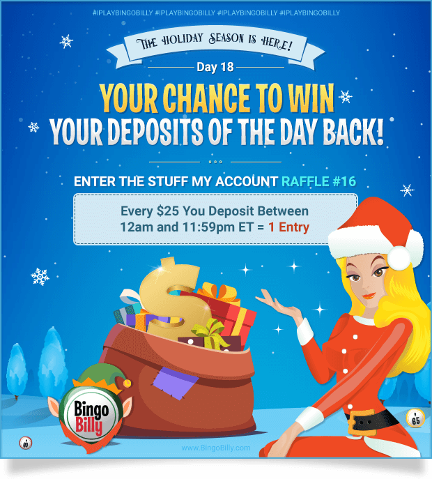 THE HOLIDAY SEASON IS HERE! | DAY 18 | YOUR CHANCE TO WIN YOUR DEPOSITS OF THE DAY BACK! | ENTER THE STUFF MY ACCOUNT RAFFLE #16