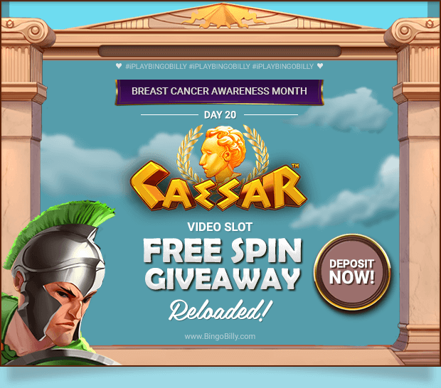 CAESAR VIDEO SLOT FREE SPIN GIVEAWAY – RELOADED! DEPOSIT NOW