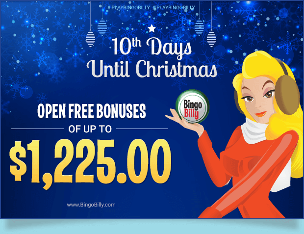 On the 11th Day 'til Christmas, Billy Gave to Me… FREE BONUSES OF UP TO $1,225.00
