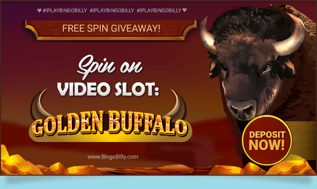 FREE SPIN GIVEAWAY! Spin On VIDEO SLOT: GOLDEN BUFFALO