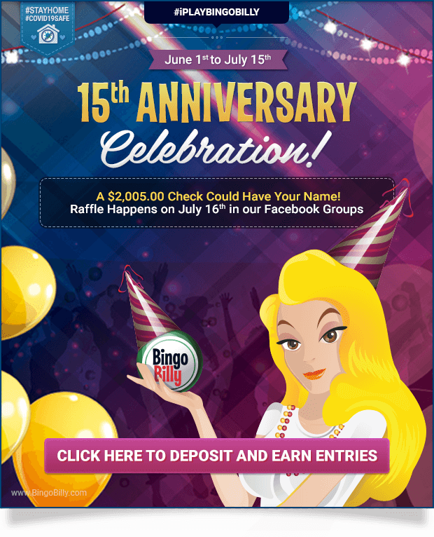 June 1st to July 15th | 15th ANNIVERSARY CELEBRATION!