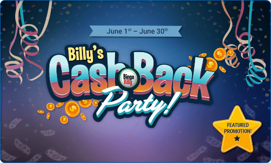 Billy's Cash Back Party!