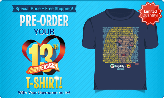 PRE-ORDER YOUR 13th ANNIVERSARY T-SHIRT!